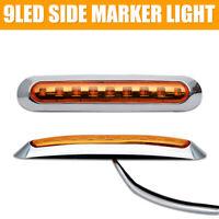 Amber 12V 9 SMD LED Clearance Side Marker Indicator Light Car Truck Trailer Lamp