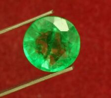 13mm (8.10cts) ROUND-FACET CERTIFIED NATURAL (GGL) COLOMBIAN EMERALD GEMSTONE