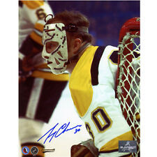 Gerry Cheevers Boston Bruins Signed 8X10 Early Mask Photo