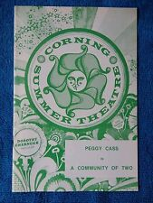 A Community Of Two - Corning Summer Theatre Playbill - July 1974 - Peggy Cass