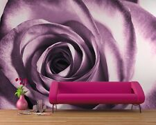 Giant size wallpaper mural for bedroom  & living room walls Purple rose flower