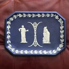Lovely 19th century Wedgwood Dark Blue Jasperware Plaque
