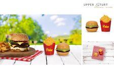 Burger Time Burger and Fries Salt and Pepper Shaker Set S & P