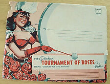 1952 TOURNAMENT OF ROSES REVIEW SOUVENIR  MANY OLD TIME STARS ETC. FLOATS