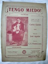 Carlos Gardel Cover Tengo Miedo Original Tango Sheet Music Argentina 1930s