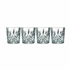Double Old Fashioned Glasses Waterford Markham Scotch Drink Crystal Set of 4