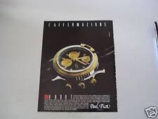 advertising Pubblicità 1990 OROLOGIO PAUL PICOT U-BOOT