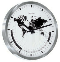 (New!) AIRPORT WORLD TIME GALLERY CLOCK by Hermle Clocks 30504-002100