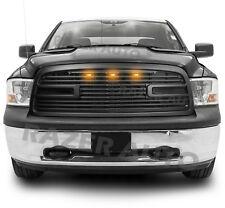 09-12 Dodge RAM 1500 Big Horn II+3x Amber LED Matte Black Packaged Grille+Shell