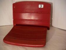 Pittsburgh Three Rivers Stadium #3 Seat Back & Bottom Red; COA