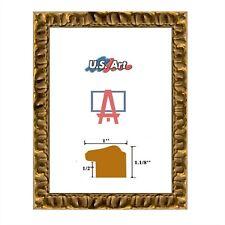 """US Art Frames 1"""" Gold Texan Horseshoe Design MDF Picture Poster Frame, Custom-B"""