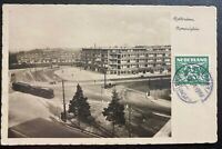 1934 Rotterdam Netherlands RPPC Postcard Cover To Montreal Canada City View