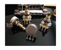Set of 4 (4X) CTS Custom 450S 500K LONG Split Shaft Audio Taper... Free Shipping