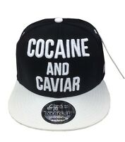 COCAINE & CAVIAR SNAPBACK BASEBALL CAP HIP HOP ERA FITTED FLAT PEAK HAT