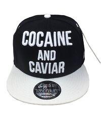 La cocaina & CAVIAR Snapback Cappellino Baseball Hip Hop era montato Piatto Picco Cappello
