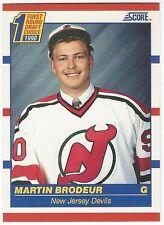1990-91 SCORE HOCKEY #439 MARTIN BRODEUR ROOKIE - NEAR MINT