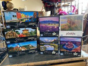 Vibrant Mega Puzzles Lot 6 New In Box Jigsaw Puzzles Beautiful Nature Scenery