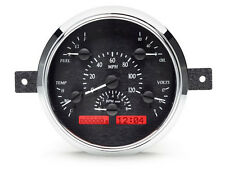 Dakota Digital 49 50 Ford Car Analog Dash Gauges System Black Alloy Red VHX-49F