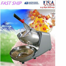 300w 132lbs/h Electric Ice Shaver Crusher Machine Snow Cone Maker Shaved Icee