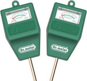 [2pack Soil Moisture Meter] Dr.meter Hygrometer Moisture Sensor Meter for Plants