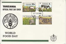 1982 Tanzania FAO Agriculture tractor cattle  First Day Cover