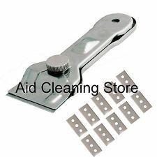 Metal Scraper & 10 Blades Glass Ceramic Hob Paint Window Gasket Cleaning Tool