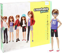 Creatable World Deluxe Character Kit Customizable Doll, Copper Hair Kid Toy Gift