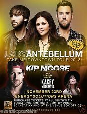 "LADY ANTEBELLUM / KIP MOORE ""DOWNTOWN TOUR 2013"" SALT LAKE CITY CONCERT POSTER"