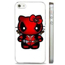 Hello Kitty Deadpool Superhero CLEAR PHONE CASE COVER fits iPHONE 5 6 7 8 X