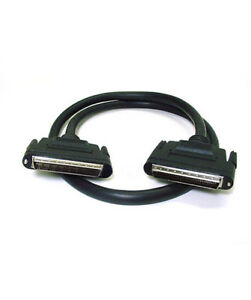 6ft 68 pin LVD High Pitch D Subminiature (HPDB68) Male to M Screw SCSI Cable