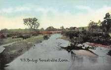 Forestville Connecticut Railroad Bridge Scenic View Antique Postcard J63742