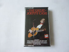 JOHNNY CASH ~ THE GREAT ~ RARE 1986 UK COUNTRY COMPILATION CASSETTE TAPE
