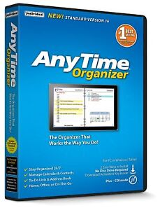 Individual Software AnyTime Organizer Standard 16 PC NEW!