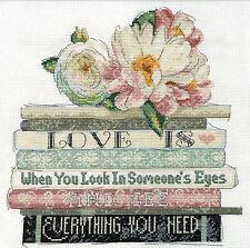 Cross Stitch Kit ~ Design Works Love is Books Romantic Saying #DW2979
