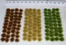 Medium Static Grass tufts - SELF ADHESIVE basing wargame miniature model Rail
