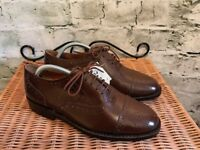 Samuel Windsor Mens Handmade Dark Brown Classic Brogues UK 5