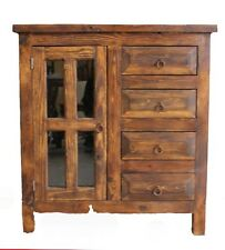 """Custom Rustic Turquoise Buffet Cabinet 36"""" wide"""