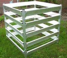 Alu Komposter 90 x 90 x 100 Kompostbehälter Gartenkomposter Aluminium
