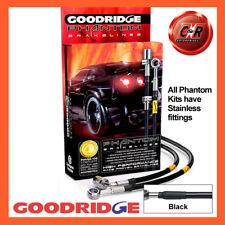 Audi 200 Avant 4WD 2.1Turbo 85-86 Steel Black Goodridge Brake Hoses SAU0451-6C