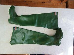 Daiwa green waders size UK 9 (rubber, Gay, Fetish boots )