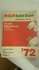 RCA Solid State SSD-204A: Power Transistors and Power Hybrid Circuits- selection