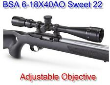 BSA® Sweet 22 6-18X40AO 6-18X40 Hunting Rifle Scope With Compensation for .22LR