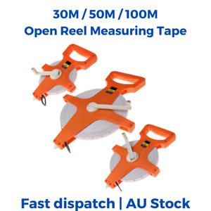 30M 50M 100M Open Reel Tape measure Fiberglass Measuring Metric Imperial Ruler