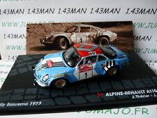 voiture 1/43 IXO Altaya Rallye : RENAULT ALPINE A110 1800 JL.THERIER San Rémo 73