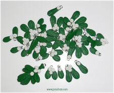 Mistletoe charms beads pendant for Yule Christmas jewellery Pagan Wicca Greenman