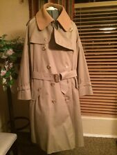 MEN'S BURBERRYS TRENCH COAT COTTON NOVA CHECK LINED, WOOL LINER 48 S Check Meas