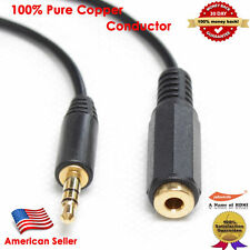 Gold 12FT Stereo Headphone 3.5mm Male to Female Audio Extension Cable, Black USA