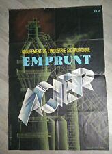 Eric (Raoul Éric Castel)Emprunt Acier Industrie affiche Original French Poster