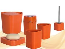 Sets d\'accessoires orange pour la salle de bain | Idées cadeaux de ...