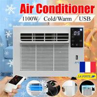 1100W 3754BTU Portable Climatiseur Froid / chaleur Heures Fenêtre Climatisation